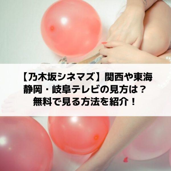 乃木坂シネマズ関西テレビや東海テレビ&静岡・岐阜の見方は?無料で見る方法はある?