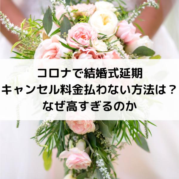 結婚 式 キャンセル 料